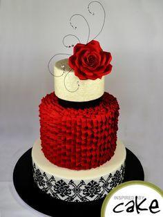 Romantic Elegance Bridal Shower Cake Fondantgumpaste roses non
