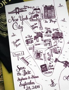 map is a must in a country wedding.   still obsessed with my cousin hannah's wedding map (more like treasure map)