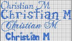 Nomi con il punto croce - Christian a punto croce