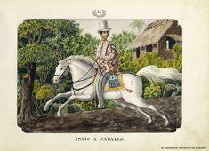 INDIO A CABALLO. Lozano, José Honorato 1821- — Dibujo — 1847