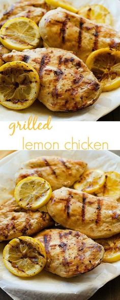 Juicy and delicious grilled chicken with the perfect lemon flavor!