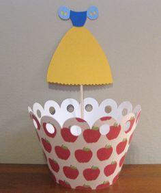 snow white dress cupcake topper