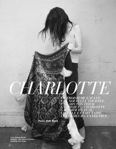 Charlotte Gainsbourg by Kate Barry for Elle France   Fashion Gone Rogue