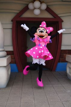 Minnie in an adorable Tokyo Disneyland outfit.