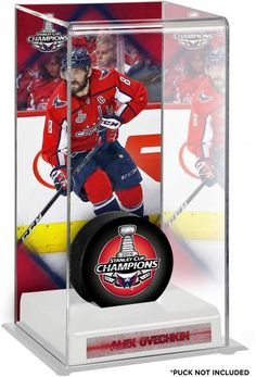 051c7c3a1 Alex Ovechkin Washington Capitals 2018 Stanley Cup Champions Logo Deluxe  Tall Hockey Puck Case