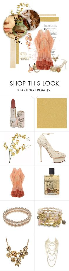 """The princess and the frog"" by svenjadobbert on Polyvore featuring Mode, Jason Wu, Versace, Pier 1 Imports, Charlotte Olympia, Chloé, NARS Cosmetics, Finesse, BillyTheTree und Chanel"