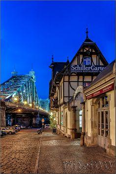 Blaues Wunder, Dresden, Germany