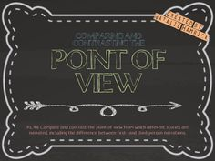 **FREEBIE** Point of View PowerPoint This resource is a great introduction to introduce first- and third-person points of view. Students will read informational passages and decide through which viewpoint the passage is written. Check out the Comparing and Contrasting Point of View Task Cards in my store!