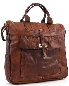 Campomaggi Lavata Tote Leather cognac 40 cm - C1225VL-1702 | Designer Brands :: wardow.com