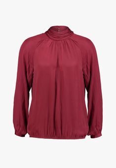 Soyaconcept PAMELA - Bluse - cabernet - Zalando.at Baby Tv Show, Models, Tv Shows, Long Sleeve, Sleeves, Mens Tops, T Shirt, Fashion, Mandarin Collar