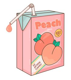 Japanese Style Peach Juice - illustration by Lucia Petrucci Kawaii Stickers, Cool Stickers, Peach Aesthetic, Aesthetic Anime, Pretty Art, Cute Art, Peach Tumblr, Peach Juice, Tumblr Stickers