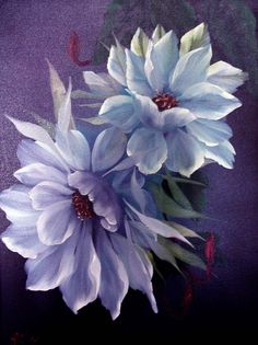 Flowers in paint