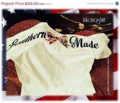 """Flash Sale 20%OFF NEW """"Merican Bow Flag""""  Southern Made Pocket Short Sleeve Tee Shirt"""