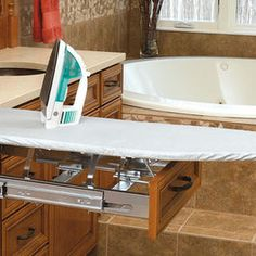 Ironing board built in drawer