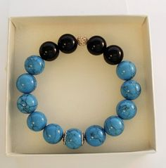 Blue - black bracelet MANTOS