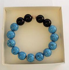 Blue - black bracelet MANTOS
