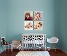 20x20 Canvas Wall Display of Newborn photos