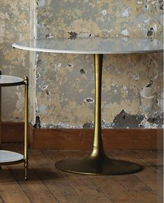 Crosby Pedestal Dining Cafe Table with Marble Top – Allissias Attic & Vintage French Style