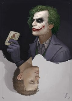 Joker by maruhana-bachi on DeviantArt Joker Images, Joker Pics, Joker Batman, Joker Art, Baby Joker, Heath Ledger Joker, The Dark Knight Trilogy, Comic Villains, Batman Universe