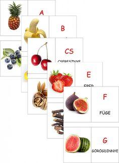 magyar abc - Ezekkel a tanulókártyákkal a gyermek játszva ismeri meg a gyümölcsöket, zöldségeket, és akár a betűket is! - fel kell iratkozni a hírlevélre