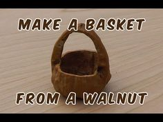 Using my scroll saw, I will show you how to make this basket from a walnut. I then finish up with my dremel tool to smooth things over. Dollhouse Miniature Tutorials, Dollhouse Miniatures, Walnut Shell Crafts, Craft Font, Christmas Hanukkah, Pine Needles, Garden Crafts, Fairy Houses, Dremel