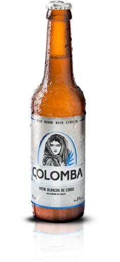 Colomba | La bière blanche qui prend le maquis  Un nom terriblement corse pour une bière blanche aux parfums envoûtants et originaux.  Colomba est  brassée à partir de malt d'orge et de froment. Elle titre 5% d'alcool. Non filtrée, de fermentation basse, sa robe présente un trouble naturel dû à la présence des levures, mais c'est bien au cœur du maquis qu'elle trouve son nez et son goût uniques