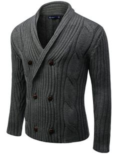 Amazon.com: Doublju Men's Knit Cardigan: Clothing