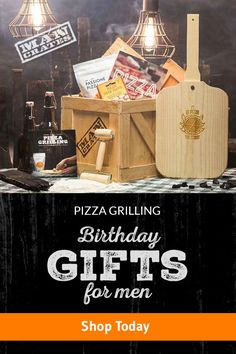 The Pizza Grilling Crate includes everything needed to turn a backyard grill into a personal pizzeria, fiendishly packaged in a sealed wooden crate and delivered with a laser etched crowbar. The perfect gift for anyone that loves grilling and pizza, which is basically everyone. #BestGiftsEver