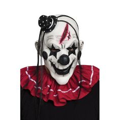 Horror Clown Mask - Clowns are always creepy but it's even worse when they are dead. Create the evil clown character of your choice and complete your costume with this la Halloween Clown, Gruseliger Clown, Scary Clown Makeup, Clown Horror, Clown Faces, Scary Faces, Circus Clown, Halloween Horror, Halloween Makeup