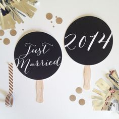 Just Married Photo Prop. Wedding  Signage. Photobooth Prop. Mr and Mrs Wedding Signs - Black and White