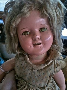Dust Bowl Baby Original Creepy Doll Metallic by LuckyGirlEleven, $20.00