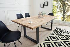 Jedálenské stoly : Luxusný jedálenský stôl z masívu Saxon Factory 180cm Dub