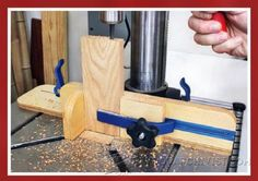 Dual Stop Vertical Drilling Jig - Drill Press Tips, Jigs and Fixtures | WoodArchivist.com