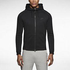 Nike Tech Fleece AW77 Mens Hoodie. Nike Store Nike Water Shoes, Nike Tech Fleece, Nike Store, Black Hoodie, Hooded Jacket, Cool Outfits, Sweatpants, Mens Fashion, Zip