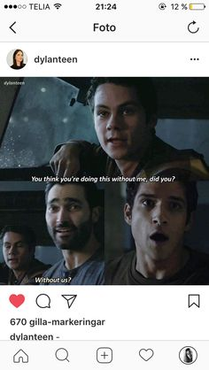 I cried when I found out derek was coming back to teen wolf