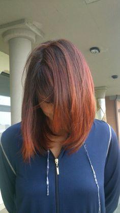 #redhead #redpassion #tagliopuntearia #degradèjoelle #haorcut #haircolours