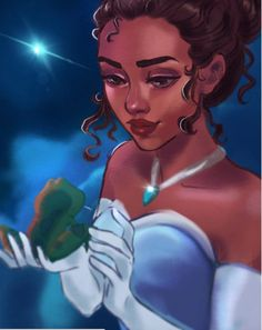 Another entry to my Disney princess series Tiana Disney Fan Art, Disney Artwork, Arte Disney, Disney Drawings, Tiana And Naveen, Disney Princess Jasmine, Disney Princess Art, Disney Princesses, Tiana Disney