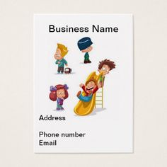Childcare daycare babysitter business cards childcare business home based child care business card colourmoves