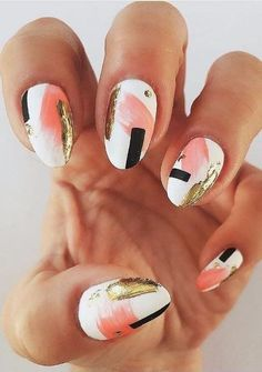nail art designs for spring ; nail art designs for winter ; nail art designs with glitter ; nail art designs with rhinestones Easy Nails, Easy Nail Art, Simple Nails, Cute Nails, Pretty Nails, Simple Nail Design, Chic Nail Art, Nail Art Diy, Perfect Nails