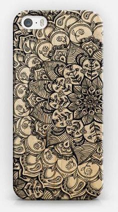 boho henna phone art
