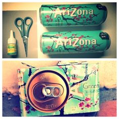 DIY: Make a camera as a room decoration out of an Arizona Tea bottle!!!