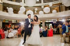 Bride and groom's first dance at their Columbus Event Centre wedding reception Art Gallery Wedding, Greater Toronto Area, Wedding Reception, Wedding Ideas, First Dance, Joseph, Centre, Groom, Bride