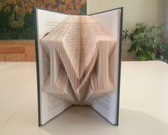 Simplified folded book art! How to fold a book THE EASY WAY.