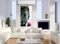 Buddha and Flower - 3 Panel Canvas Art Set