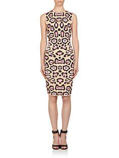 Givenchy - Jaguar Print Punto Milano Knit Dress