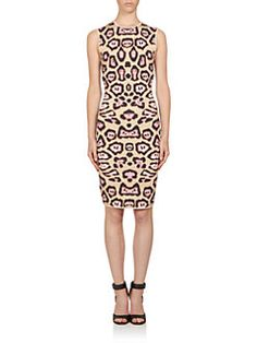 Givenchy - Jaguar Print Punto Milano Knit Dress