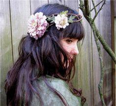 Floral Head Wreath  Mauve Pink Braided by BloomDesignStudio (etsy)