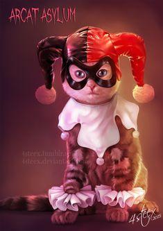 Harley Kitty by 4steex on DeviantArt