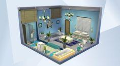 Nombre: Blue Children's Bathroom.  ¡Mira esta habitación en la galería de Los Sims 4! - #luxuryparty#modern