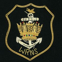 WRNS GOLD OPTION Embroidered Bullion Blazer Badges Hand embroidered patches wire bullion crest #badges #blazer #army #patches https://www.welldonebadges.com/